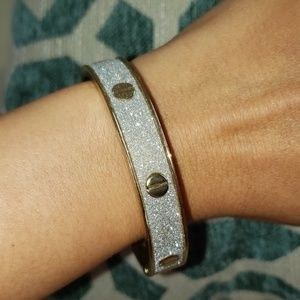 Glittery gold and sparkly white bangle
